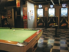 pool,darts FOOL rest BAR